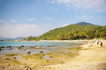 Beach in Sanya, Hainan, China. photo