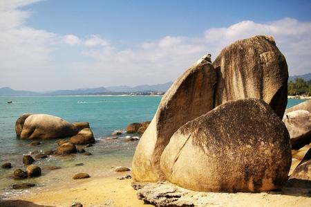 and sanya: Beach in Sanya, Hainan, China. Stock Photo