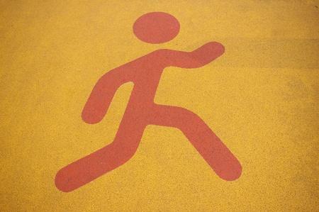 pedestrian sign: Pedestrian segno Archivio Fotografico