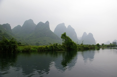 Beautiful Karst mountain landscape in Yangshuo Guilin, China Stock Photo - 12969387