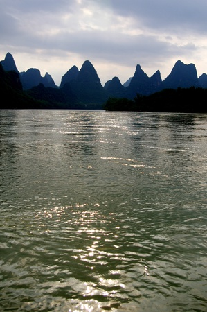 Beautiful Karst mountain landscape in Yangshuo Guilin, China Stock Photo - 12978069