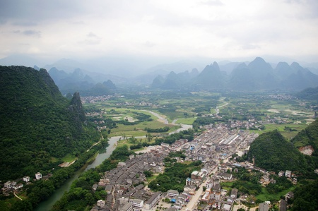 Beautiful Karst mountain landscape in Yangshuo Guilin, China Stock Photo - 12976594