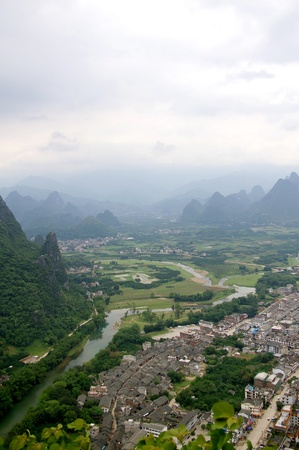 Beautiful Karst mountain landscape in Yangshuo Guilin, China Stock Photo - 12972989
