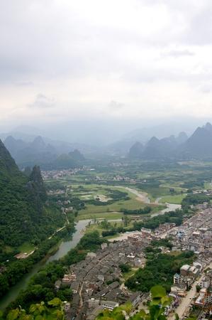 Beautiful Karst mountain landscape in Yangshuo Guilin, China Stock Photo - 12972989