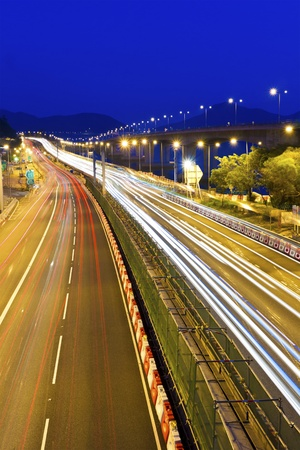 Traffic at highway in Hong Kong Stock Photo - 13191903
