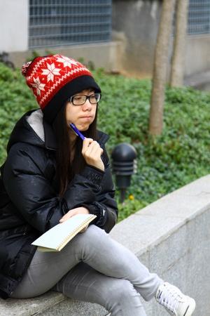 Asian woman thinking Stock Photo - 13246888
