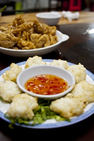 Fried squid in Chinese style photo