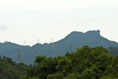 Lion Rock hill in Hong Kong Stock Photo - 13659295
