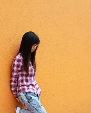 Asian sad woman