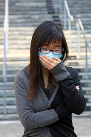 Asian sick woman photo