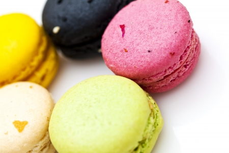 French dessert colorful mararoon
