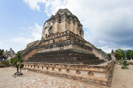 Wat Chedi Luang temple in Chiang Mai, Thailand. photo