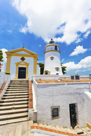Guia Fortress lighthouse in Macau Imagens