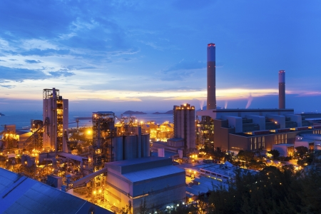 chemical industry: Power plants in Hong Kong along the coast