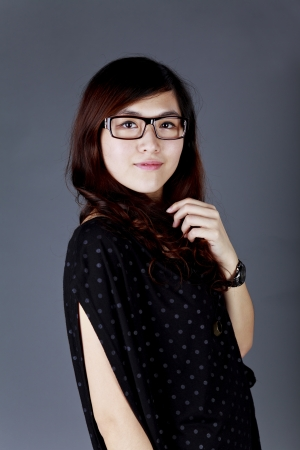 Asian businesswoman with glasses photo