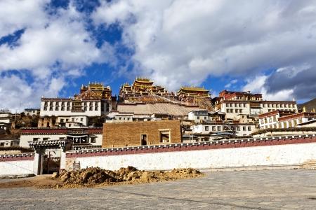 Ganden Sumtseling Monastery in Shangrila, Yunnan, China. photo