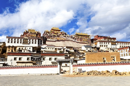 Ganden Sumtseling Monastery in Shangrila, Yunnan, China. photo