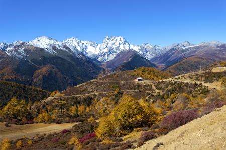 haba: Haba snow mountain landscape in China at autumn