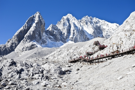 Jade Dragon Snow Mountain in Lijiang, Yunnan, China photo