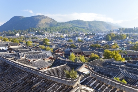 Lijiang old town in the morning, Yunnan province, China. Imagens - 16396610