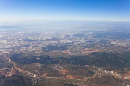 kunming: Aerial view of Kunming, China.