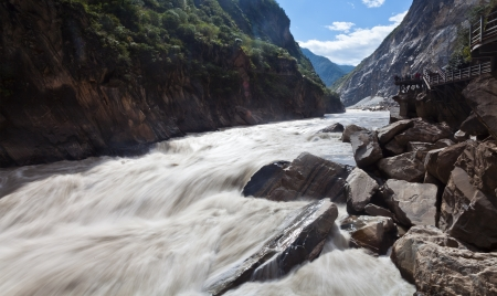 Tiger Leaping Gorge in Lijiang, Yunnan Province, China. Stock Photo - 16397047