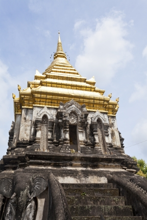 Wat Chiang Man temple in Chiang Mai, Thailand. photo
