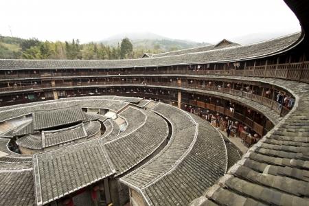 Fujian Tulou house in China Editorial