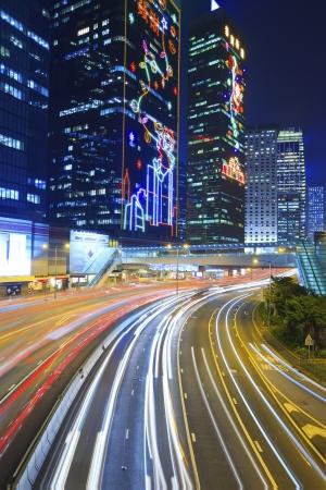 City traffic at night Stock Photo - 17713946