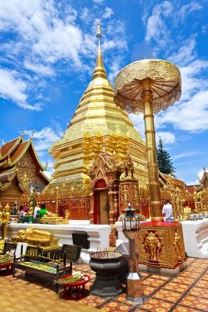 doi: Wat Phrathat Doi Suthep temple in Chiang Mai, Thailand.