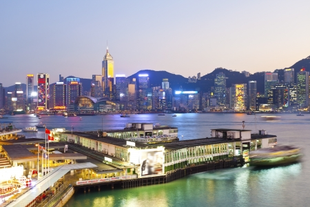 Hong Kong skyline at sunset Stock Photo - 17886859