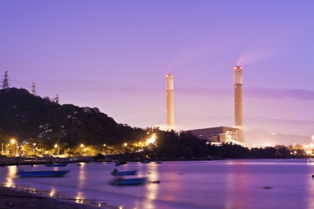 Power plants along the coast photo
