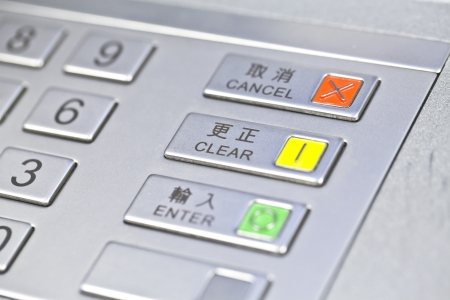 pin code: ATM pin code  Stock Photo