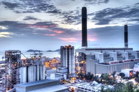 edificio industrial: Central el?ctrica Foto de archivo