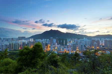 highroad: City sunset in Hong Kong