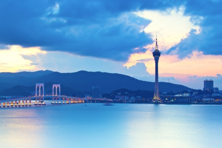 macau: Macau sunset