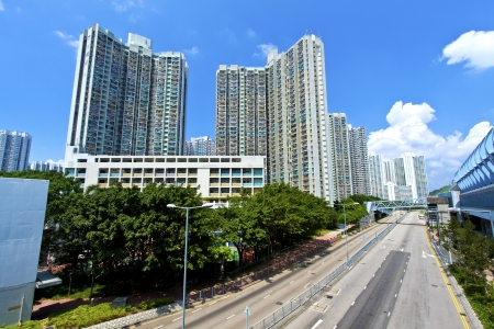 Hong Kong apartment blocks at day