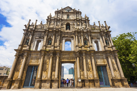 Ruins St Paul church in Macau, China