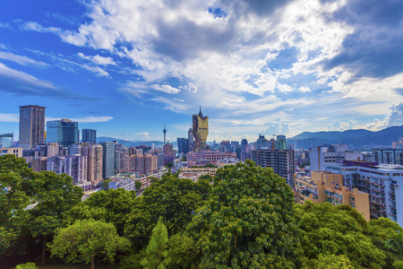 Macau casino and cityscape