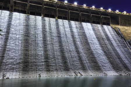 Dam at night in Hong Kong photo