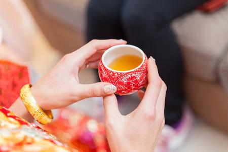 結婚式の日に、中国茶道カップ