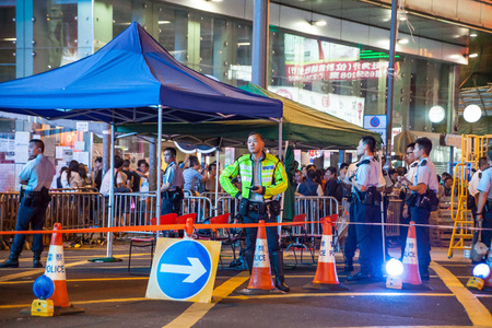 suffrage: HONG KONG, OCT 30: Umbrella Revolution in Mongkok on 30 October 2014. Hong Kong people are fighting for a real universal suffrage for the next chief executive election.