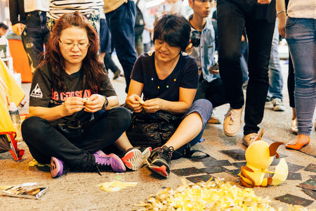suffrage: HONG KONG, OCT 24: Umbrella Revolution in Mongkok on 24 October 2014. Hong Kong people are fighting for a real universal suffrage for the next chief executive election.
