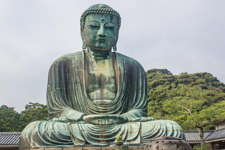 bouddha: Le Grand Bouddha de Temple Kotokuin à Kamakura, Japon.