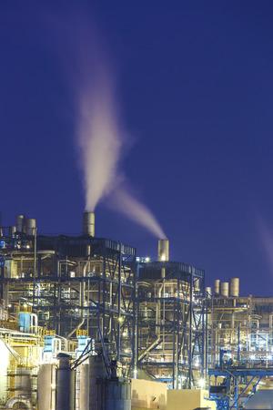 powerplant: Power plant smoke at night