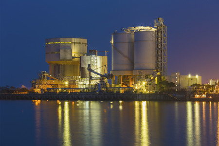powerplant: Petrochemical industrial plant Stock Photo