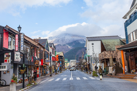 Yufuin - DEC 5 : The main shopping street of Yufuin in Oita, Japan on December 5, 2014.
