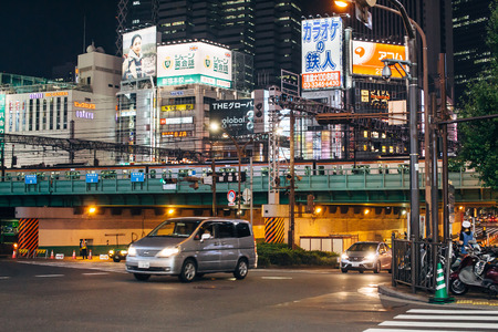 SHINJUKU, TOKYO - AUG 4: Street life in Shinjuku on Aug 4,2015. Shinjuku is a special ward located in Tokyo Metropolis, Japan. It is a major commercial and administrative center. Editorial