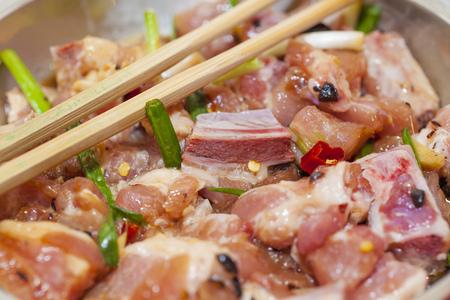 twain: Raw meat with sauce