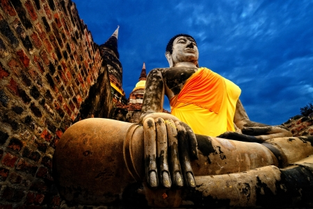 godhead: Ancient Buddha, Ayutthaya, Thailand